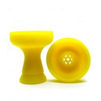 Силиконовая средняя чаша для кальяна - Жёлтая