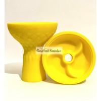 """Силиконовая средняя чаша для кальяна """"3 диска"""" - жёлтый цвет"""