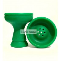 Силиконовая средняя чаша для кальяна - Зелёная