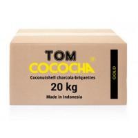 Кокосовый уголь Tom Cococha Gold (Том Кокоча Золотой) 20кг