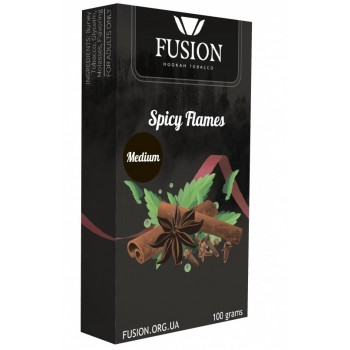 Табак Fusion Medium Spicy Flames (Специи) 100 грамм