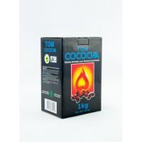 Кокосовый уголь Tom Cococha Blue 1 кг (Упаковка)