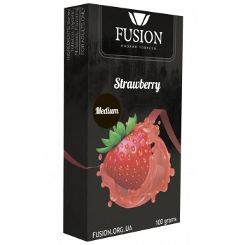 Табак Fusion Medium Strawberry (Клубника) 100 грамм