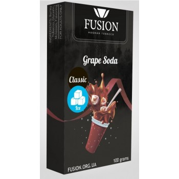Табак Fusion Classic Ice Grape Soda (Ледяная Виноградная содовая) 100 грамм