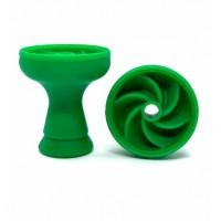 """Силиконовая средняя чаша для кальяна """"Вихрь"""" - зелёный"""
