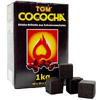 Кокосовый уголь Tom Cococha Gelb 1кг (72 кубика) без упаковки