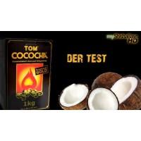 Кокосовый уголь Tom Cococha Gold 1кг (72 кубика) в упаковке